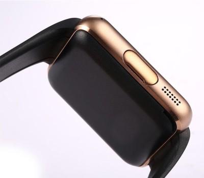 Bingo T50 Gold Bluetooth Smart Wrist Smartwatch (Black Strap)