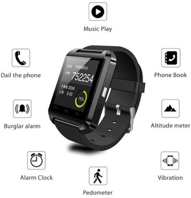 MOUSETRAP MTWSB Smartwatch (Black Strap)