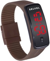 SELVEL 003 Smart Watch Smartwatch (Brown Strap)