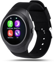 Bingo C5 Black Full Disc Touch With Bluetooth And SIM Enabling Feature Smartwatch (Black Strap)