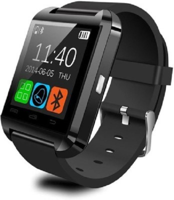 General AUX Touch, Bluetooth, BT Camera, Padometer, Altimeter Black Smartwatch (Black Strap)