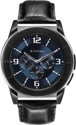 Titan Juxt Pro Silver Smartwatch (Black Strap)