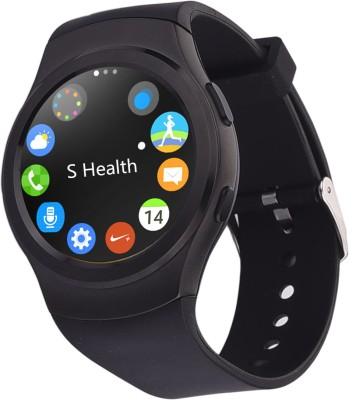 General Aux BT4.0, Heart Rate Monitor, Pedometer, Anti Lost, GSM SIM,ECG, iOS + Android App Smartwatch (Black Strap)