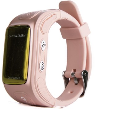 Santwissen SantWatch-Kids wearable GPS tracker phone Pink Smartwatch (Pink Strap Free Size)