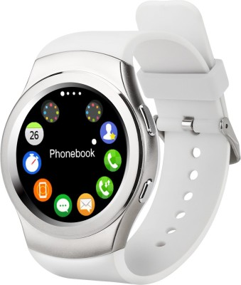 epresent Heart Rate Monitor Smartwatch (White Strap)