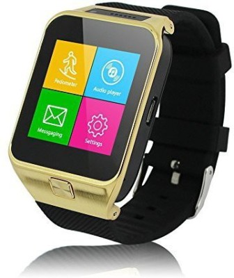 ZGPAX Gold S29 Bluetooth V3.0 Smartwatch 1.54 Inches MTK6260 W/camera Support SIM Card TF Card Including a 4 Port 1 USB Hub Smartwatch (Black Strap)