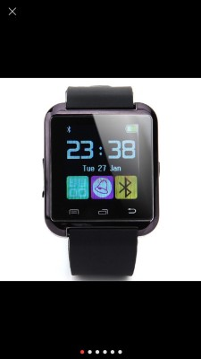 Spot Dealz U8 Smartwatch (Black Strap)