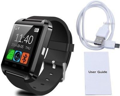 CUVVA U 8 SMART WATCH Smartwatch (Black Strap)