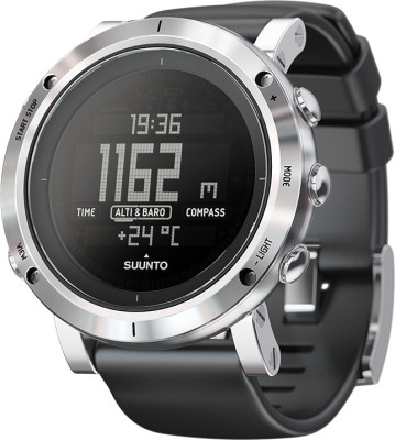 Suunto SS020339000 Core Digital Brushed Steel Smartwatch (Black Strap)