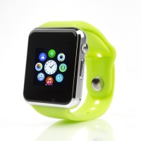 Zigmo A1 Bluetooth Watch With SIM Card Slot And Camera Green Smartwatch (Green Strap)