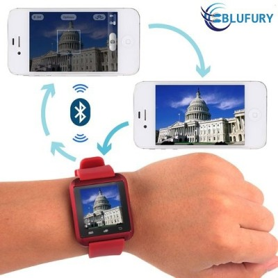 Blufury U8 Plus Bluetooth Smartwatch (Red Strap)