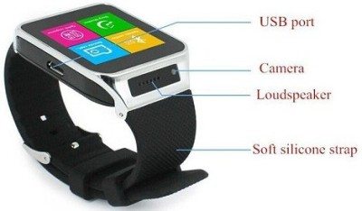 Attire Stylish Smartwatch (Black Strap)
