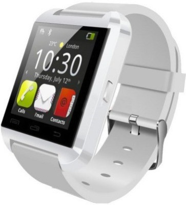 ShopAIS U8White Smartwatch (White Strap)
