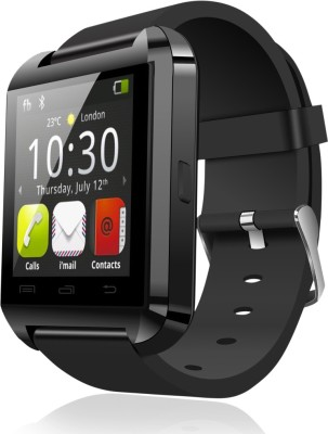 E LV Android-Touchscreen-Black Smartwatch (Black Strap)