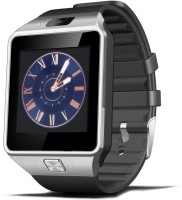Crocon BLUETOOTH SMART WATCH WITH SIM FUNCTION SDCARD SUPPORT 2M CAMERA SILVER Smartwatch (Black)