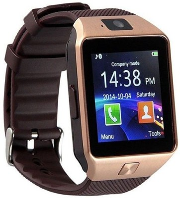 Mezire with SIM card, 32GB memory card slot, Bluetooth and Fitness Tracker Smartwatch (Brown Strap)