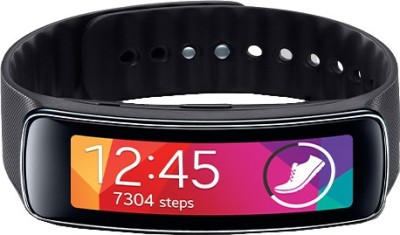 SAMSUNG Gear Fit Charcoal Black Smartwatch (Black Strap)