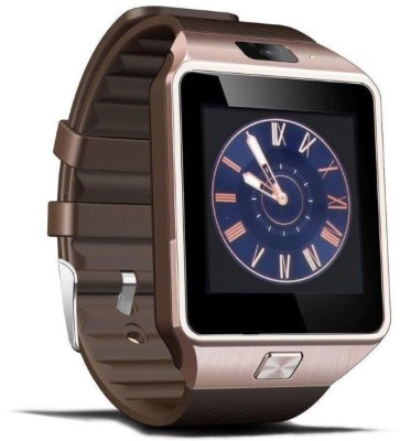 Zakk DZ 09 With Sim Card Support Smartwatch (Brown Strap S-L)