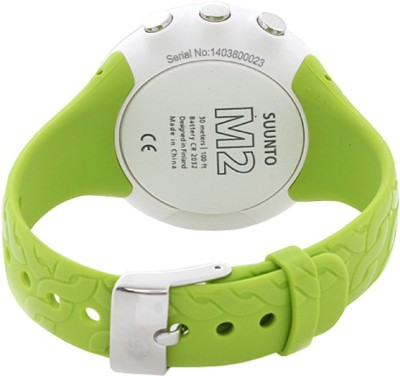Suunto SS020648000 M2 Digital Lime Smartwatch (Green Strap)