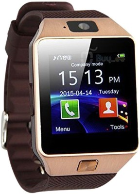 WDS Smart DZ09 S Compatible with I phone and All Android Devices Sim Support Also Brown Smartwatch (Multicolor Strap)