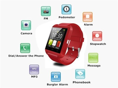 Speed U8 Bluetooth Smartwatch (Red Strap)