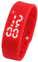 BS SPY Fitness BanD 3D PeDometer Sleep Temperature Calorie Monitor Time Display Silicon Without SpeeDometer Smartwatch (Red)