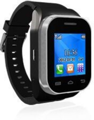 Kenxinda Mobile Jet Black Smartwatch (Black Strap Free Size)