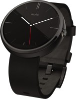 Motorola Moto 360 Black Leather Smartwatch