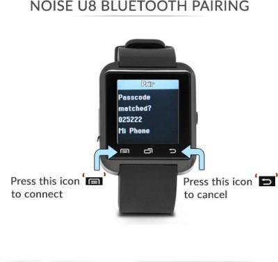 Noise U8 Smartwatch (Black Strap)