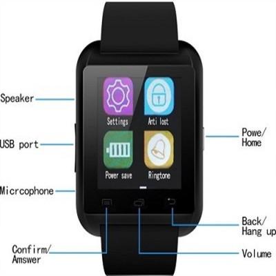 JAS U8 Smartwatch (Black Strap)