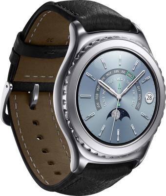 SAMSUNG Gear S2 Classic Platinum Smartwatch (Black Strap)
