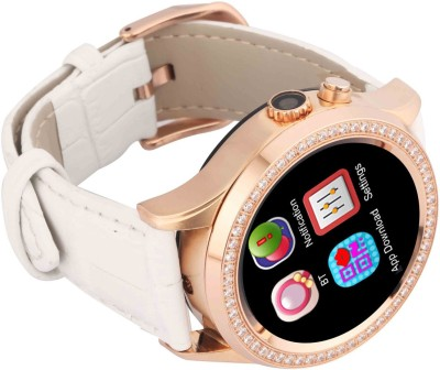 Bingo C2 White Heart Rate Monitoring Bluetooth Smartwatch (White Strap)