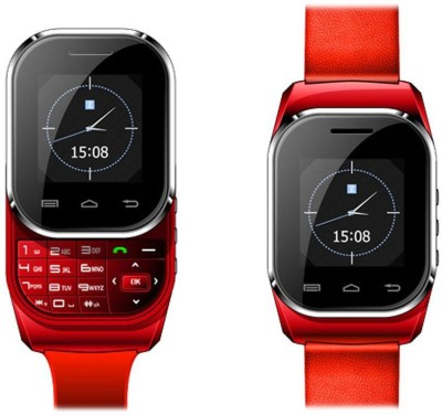 Kenxinda Mobile Bright Red Smartwatch (Red Strap Free Size)