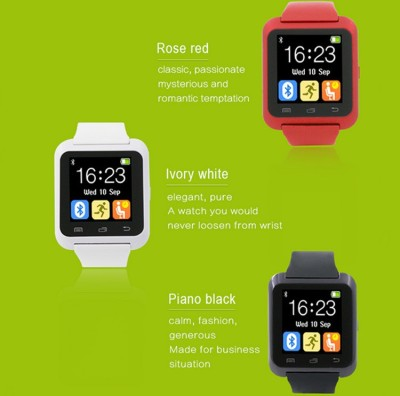 Cinco Limited Edition U8 Elegant Black Smartwatch (Black Strap)
