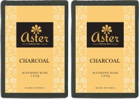 Aster Luxury Charcoal Bathing Bar 125g - Pack Of 2 (125 G)
