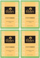 Aster Luxury Cucumber Handmade Soap 125g - Pack Of 4 (500 G)