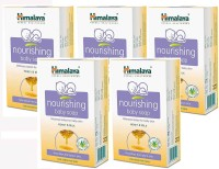 Himalaya Herbal Nourishing Baby Soap (Pack Of 5) (375 G)