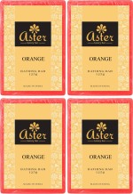 Aster Luxury Orange Bathing Bar 125g Pack of 4