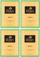 Aster Luxury Khus Bathing Bar 125g - Pack Of 4 (500 G)