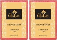 Aster Luxury Strawberry Bathing Bar 125g - Pack Of 2 (250 G)