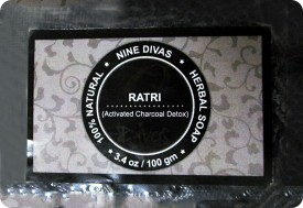 Nine Divas Ratri Activated Charcoal Detox Herbal Soap (Pack of 2)