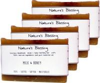 Nature's Blessing Milk & Honey Handmade Soap - Pack Of 4 (400 G)