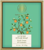 Forest Essentials Luxury Sugar Soap Fresh Lemon & Coriander