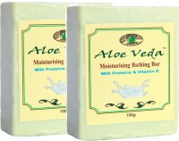Aloe Veda Moisturising Bathing Bar - Milk Proteins With Vitamin E - Pack Of 2