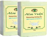 Aloe Veda Moisturising Bathing Bar - Milk Proteins With Vitamin E - Pack Of 2