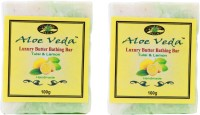 Aloe Veda Luxury Butter Bathing Bar - Tulsi & Lemon - Pack Of 2