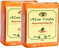 Aloe Veda Moisturising Bathing Bar - Sandalwood With Cedarwood Oil - Pack Of 2