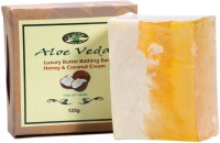 Aloe Veda Luxury Butter Bathing Bar - Honey & Coconut Cream (125 G)