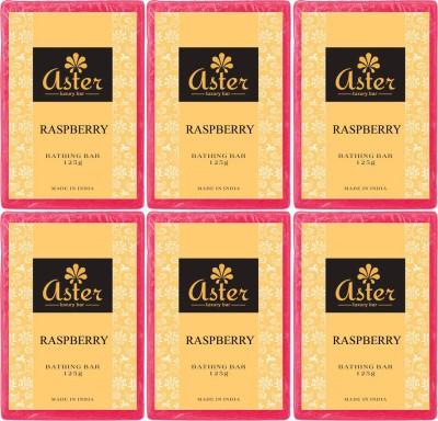 Aster Luxury Raspberry Premium Handmade Bathing Bar Set of 6
