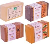 Khadi Mauri Winter Care Combo Pack - Almond Honey Aloe-Vera Papaya Body Wash Soap (499 G)